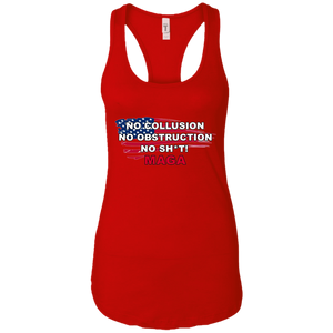 Red Trump - No Collusion No Obstruction No Sh*t MAGA Tank Top