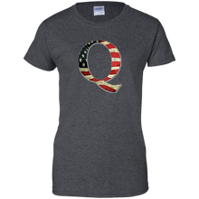 Load image into Gallery viewer, Charcoal Grey Q American Flag Qanon/Q T-shirt