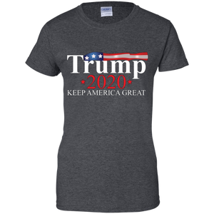 Charcoal Grey Trump 2020 Keep America Great T-shirt