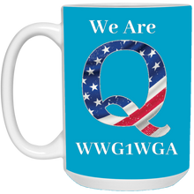 Load image into Gallery viewer, Blue We Are Q WWG1WGA Mug