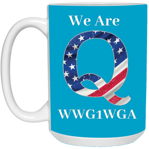 Blue We Are Q WWG1WGA Mug