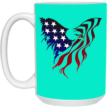 Load image into Gallery viewer, Teal Amercian Flag Eagle Mug