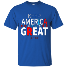 Load image into Gallery viewer, Royal Blue Trump - Keep America Great T-shirt