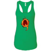 Load image into Gallery viewer, Green Qanon Q On Fire Tank Top