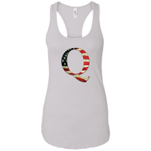 Load image into Gallery viewer, White Q American Flag Qanon/Q Tank Top