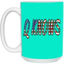 Load image into Gallery viewer, Teal Q KNOWS Ceramic Mug