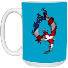Load image into Gallery viewer, Blue American Flag Flame Qanon/Q Mug