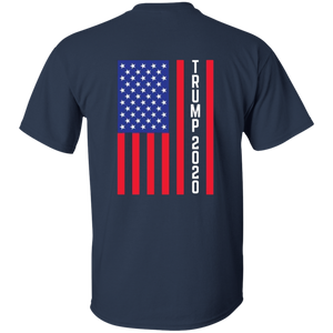 Navy Blue Trump 2020 Flag Men's T-shirt