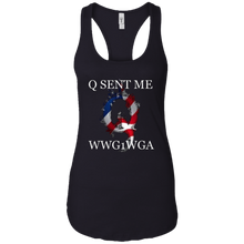 Load image into Gallery viewer, Black Q Sent Me WWG1WGA Q/Qanon Tank Top
