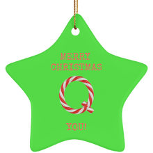 Load image into Gallery viewer, Merry Christmas Q You Ceramic Ornament