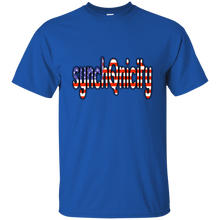 Load image into Gallery viewer, Royal synchQnicity American Flag Q/Qanon T-shirt