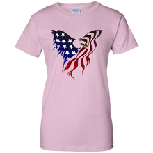 Load image into Gallery viewer, Light Pink Amercian Flag Eagle T-shirt