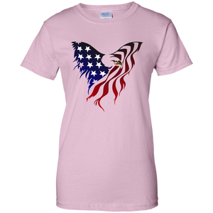 Light Pink Amercian Flag Eagle T-shirt