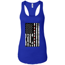 Load image into Gallery viewer, Royal Blue Qanon WWG1WGA Flag Women's Tank Top