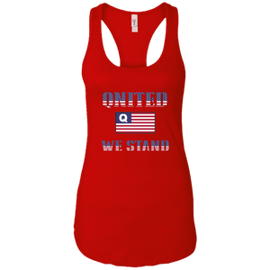 Red Qnited We Stand Q/Qanon Tank Top