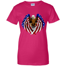 Load image into Gallery viewer, Pink American Flag Eagle Wings T-shirt