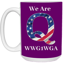 Load image into Gallery viewer, Purple We Are Q WWG1WGA Mug
