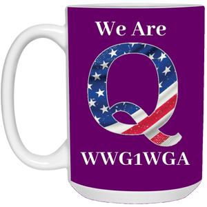 Purple We Are Q WWG1WGA Mug