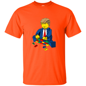 Orange Trump Lego Kid's T-shirt