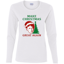 Load image into Gallery viewer, Make Christmas Great Again Trump Women's LS T-Shirt