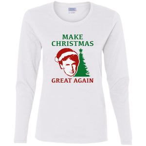 Make Christmas Great Again Trump Women's LS T-Shirt