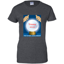 Load image into Gallery viewer, Charcoal Grey Trump 2020 The Future Looks Bright T-shirt