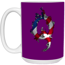 Load image into Gallery viewer, Purple American Flag Flame Qanon/Q Mug