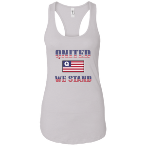 White Qnited We Stand Q/Qanon Tank Top
