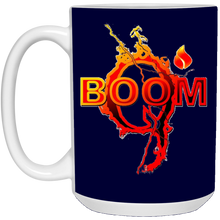 Load image into Gallery viewer, Navy Blue Qanon Q Boom Mug