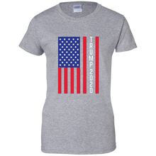 Load image into Gallery viewer, Grey Trump 2020 Flag Women's T-shirt