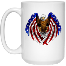 Load image into Gallery viewer, White American Flag Eagle Wings Mug