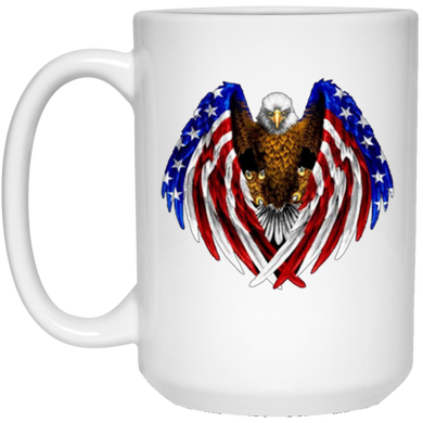 White American Flag Eagle Wings Mug
