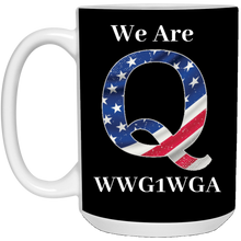 Load image into Gallery viewer, Black We Are Q WWG1WGA Mug