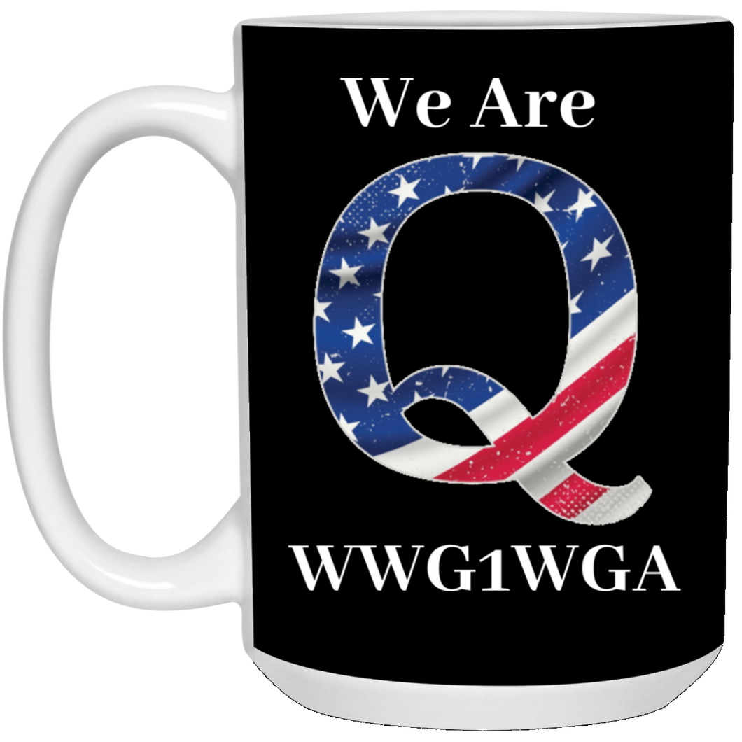 Black We Are Q WWG1WGA Mug