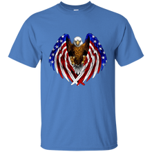 Load image into Gallery viewer, Blue American Flag Eagle Wings T-shirt