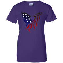 Load image into Gallery viewer, Purple Amercian Flag Eagle T-shirt