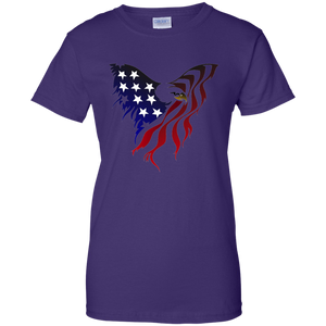 Purple Amercian Flag Eagle T-shirt