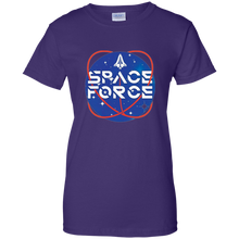 Load image into Gallery viewer, Purple Trump Space Force T-shirt