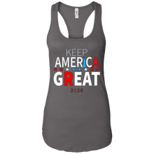 Load image into Gallery viewer, Grey Trump - Keep America Great Tank Top