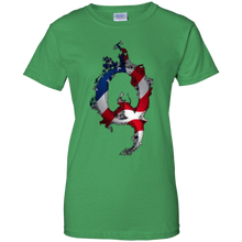 Load image into Gallery viewer, Green American Flag Flame Qanon/Q T-shirt