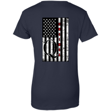 Load image into Gallery viewer, Navy Blue Qanon WWG1WGA Flag Women's T-shirt