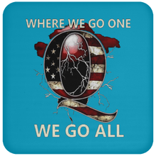 Load image into Gallery viewer, Blue WWG1WGA Q/Qanon Coaster