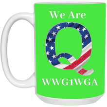 Load image into Gallery viewer, Green We Are Q WWG1WGA Mug