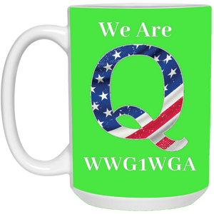 Green We Are Q WWG1WGA Mug