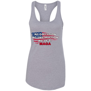 Grey Trump - No Collusion No Obstruction No Sh*t MAGA Mug Tank Top