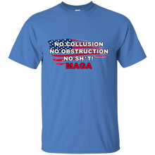 Load image into Gallery viewer, Blue Trump - No Collusion No Obstruction No Sh*t MAGA T-shirt