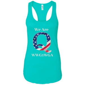 Blue We Are Q WWG1WGA Tank Top