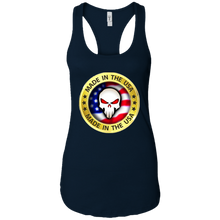 Load image into Gallery viewer, Navy Blue Joe M Qanon Logo Tank Top