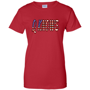 Red QKNOWS American Flag Q/Qanon T-shirt