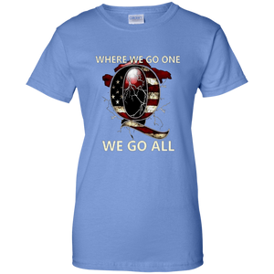 Light Blue Q WWG1WGA Q/Qanon T-shirt